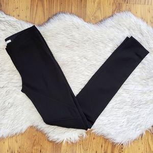 Diane Von Furstenberg Black Moto Skinny Pants 0